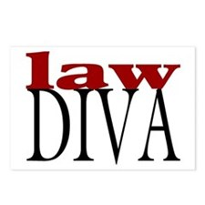 Law Diva Postcards (Package of 8)