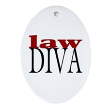 Law Diva Oval Ornament