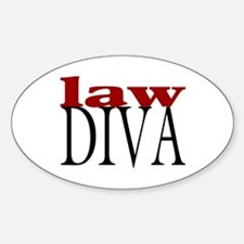 Law Diva Oval Decal