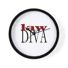 Law Diva Wall Clock