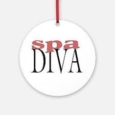 Spa Diva Ornament (Round)