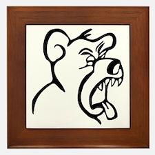 Scream Bear Framed Tile