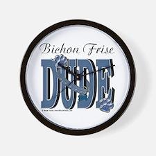 Bichon Frise Dude Wall Clock