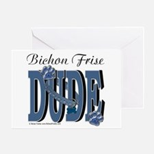 Bichon Frise Dude Greeting Card