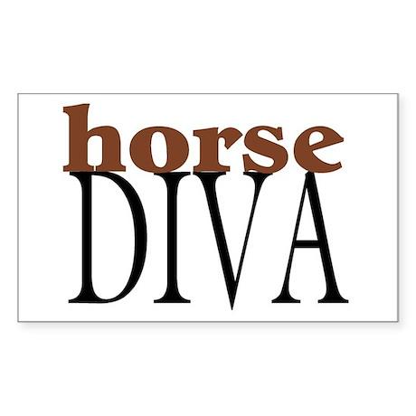 Horse Diva Rectangle Sticker