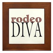 Rodeo Diva Framed Tile