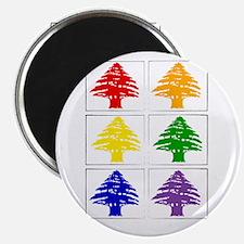 Rainbow Cedar Tree Magnet