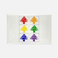 Rainbow Cedar Tree Rectangle Magnet