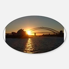 Sydney Sunset Oval Decal