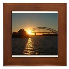 Sydney Sunset Framed Tile