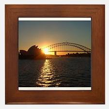 Sydney Sunset Framed Tile