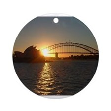 Sydney Sunset Ornament (Round)