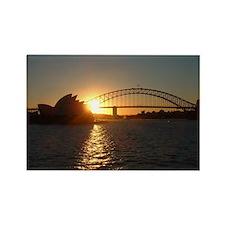 Sydney Sunset Rectangle Magnet