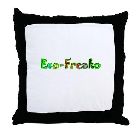 Eco Freako Throw Pillow