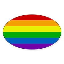 Rainbow Oval Decal