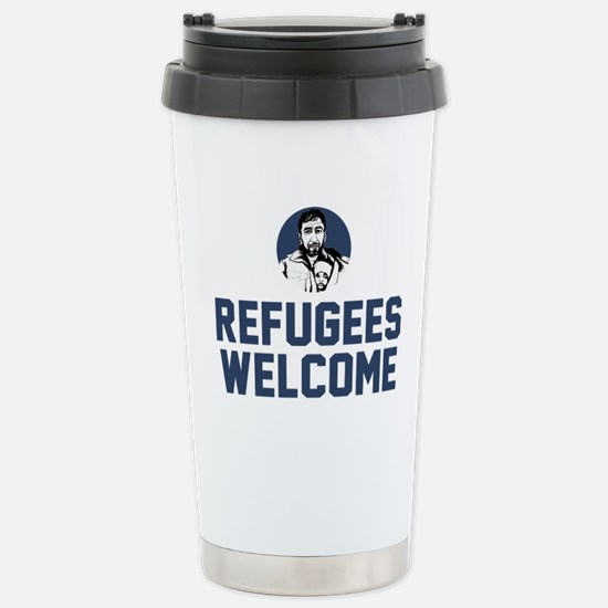 Refugees Welcome Stainless Steel Travel Mug