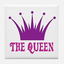 The Queen: Crown Tile Coaster