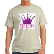 The Queen: Crown Ash Grey T-Shirt