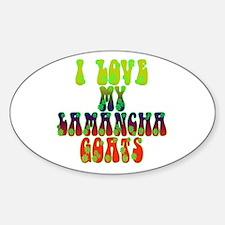 LaMancha Goats Oval Decal