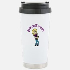 Blonde Saxophone Player Stainless Steel Travel Mug