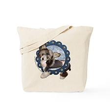 Sheeba Chinese Crested Denim Tote Bag