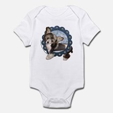 Sheeba Chinese Crested Denim Infant Bodysuit