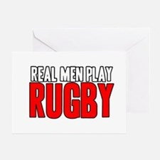 Real Men Play Rugby Greeting Card