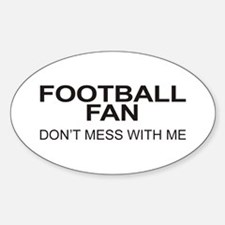 Football Fan Oval Decal