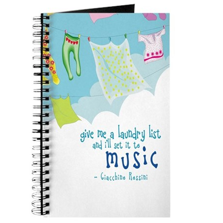 Rossini Quote Music Notebook Journal