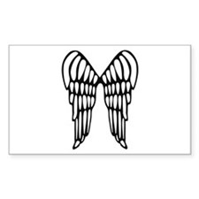 Angel Wings Rectangle Decal