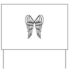 Angel Wings Yard Sign
