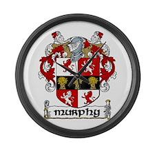 Murphy Coat of Arms Large Wall Clock