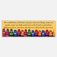 Peaceful Crayons Bumper Bumper Bumper Sticker