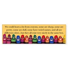 Peaceful Crayons Bumper Bumper Stickers