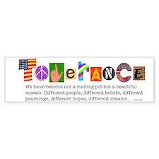 Tolerance Bumper Bumper Sticker