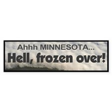 Minnesota Winter Blues Bumpersticker