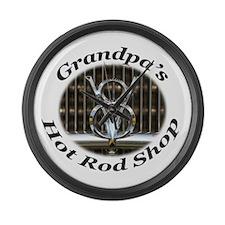 Grandpas Garage Large Wall Clock
