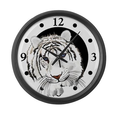 White Bengal Tiger Large Wall Clock