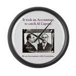 Al Capone Accountant Large Wall Clock