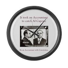 Al Capone Accountant Large Wall Clock