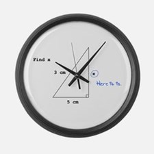 Find X Large Wall Clock