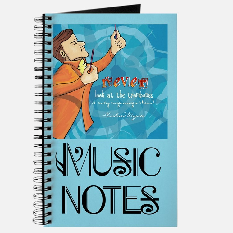 Wagner Trombone Quote Music Notebook