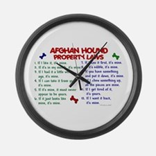 Afghan Hound Property Laws 2 Large Wall Clock