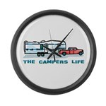 The campers life Large Wall Clock