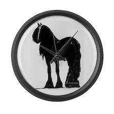 Cute Horse Large Wall Clock