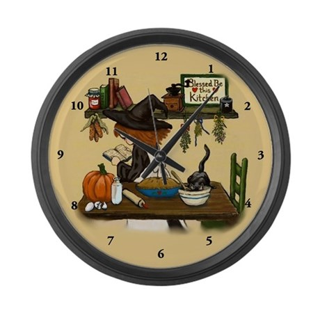 Kitchen Witch Large Wall Clock By Pookachild
