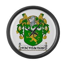 McManus Coat of Arms Large Wall Clock