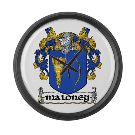 Maloney Coat of Arms Large Wall Clock