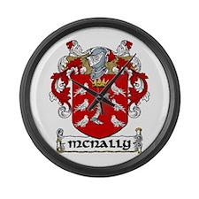 McNally Coat of Arms Large Wall Clock