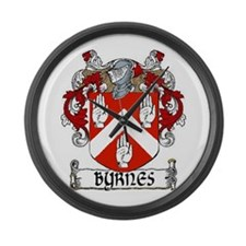 Byrnes Coat of Arms Large Wall Clock